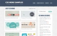 CSS Menu Samples
